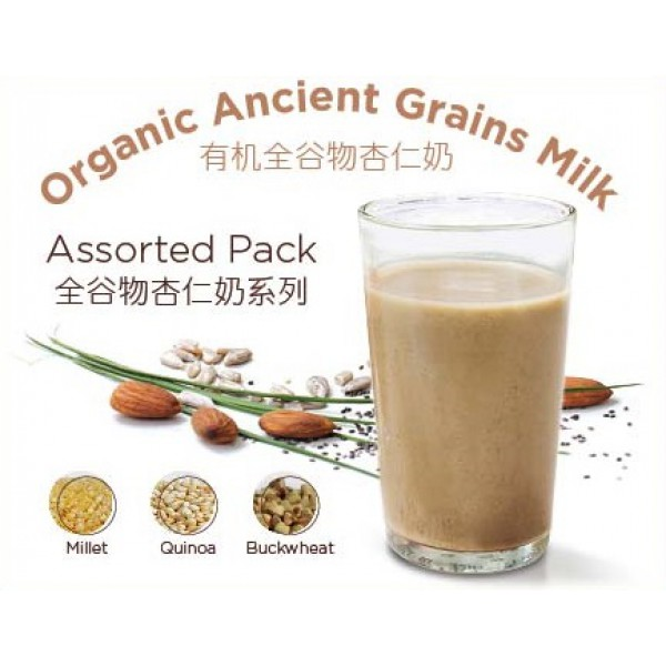 Cottage Farm Organic Ancient Grains Oats Almond Milk ASSORTED 20g x 6 sachets