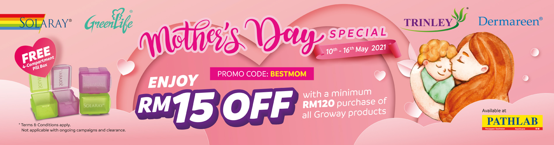 Mother's Day Special-RM15 OFF