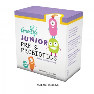 GREENLIFE JUNIOR PRE & PROBIOTICS POWDER 3g x 10 SACHETS (CLEARANCE)
