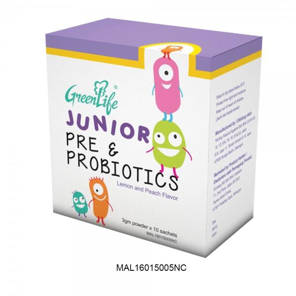 GREENLIFE JUNIOR PRE & PROBIOTICS POWDER 3g x 10 SACHETS