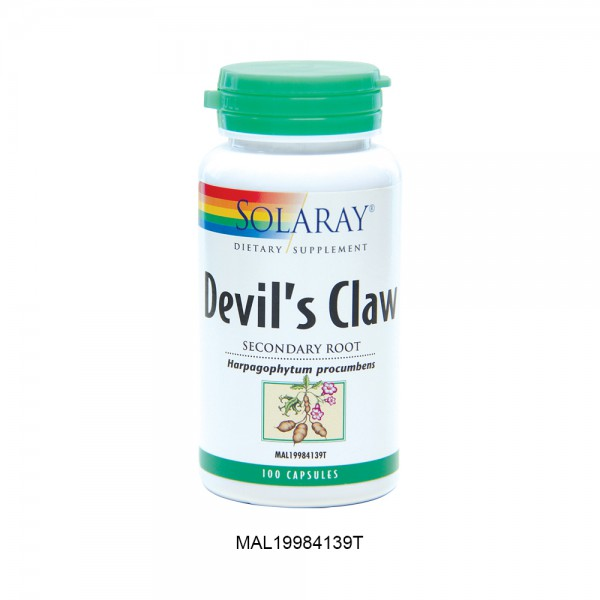 SOLARAY DEVIL'S CLAW - 100 Capsules (CLEARANCE)