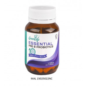 GREENLIFE ESSENTIAL PRE & PROBIOTICS CAPSULE  – 30'c