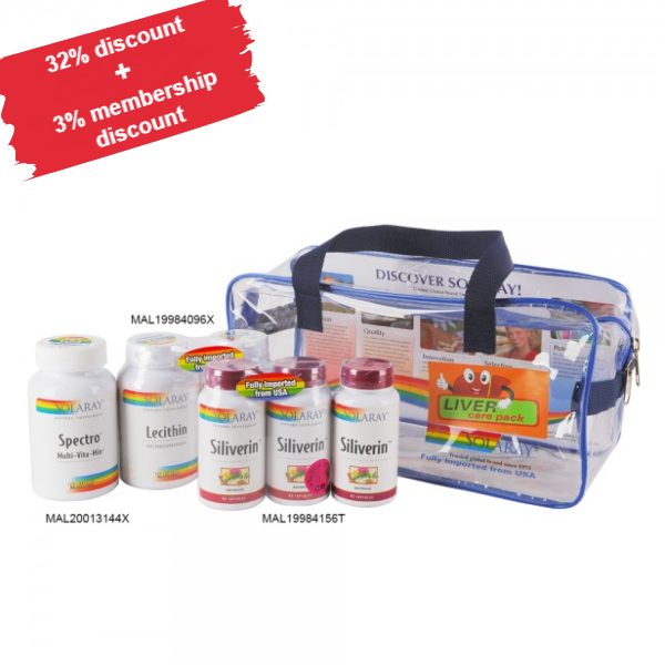 Liver Care pack (Enhanced) Siliverin (3 x 90'C)(MAL19984156T)  Lecithin (2 x 120'C)(MAL19984096X)   Spectro (1 x 120'C)(MAL20013144X)