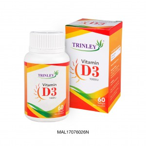 TRINLEY VITAMIN D3 1000 IU  (60 SOFTGEL)